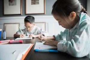 Children being homeschooled