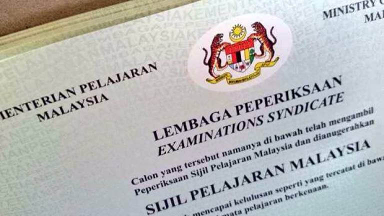 official SPM certificate cover